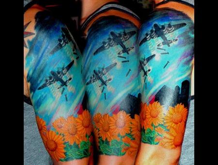 B 52  Bomber  Color  Sunflower  Sky Color
