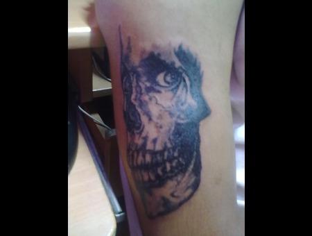 Skull Tattoo Black White