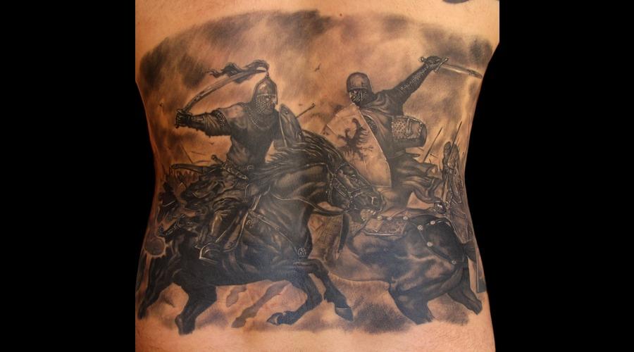Battlefield Warriors Black White Back