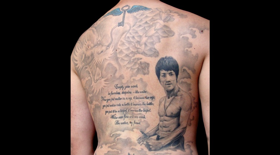 Bruce Lee Black White Back