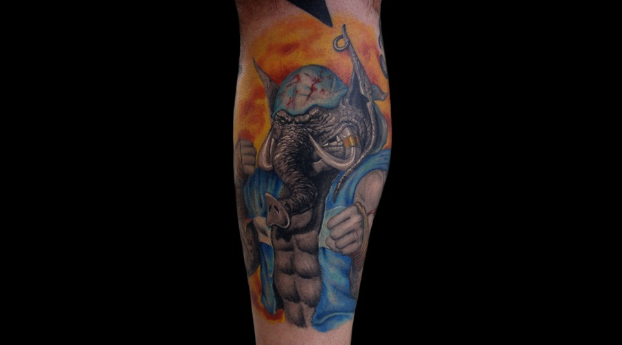 Combat Elephant Color Lower Leg