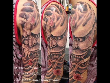 Hanya Mask  Half Sleeve Black Grey
