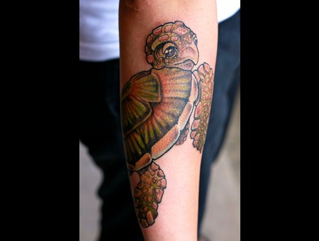 Turtle  Ocean  Sleeve  Color  Tattoo Color