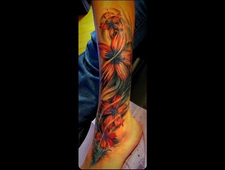 Pretty Flowers Coverup Color Color Lower Leg