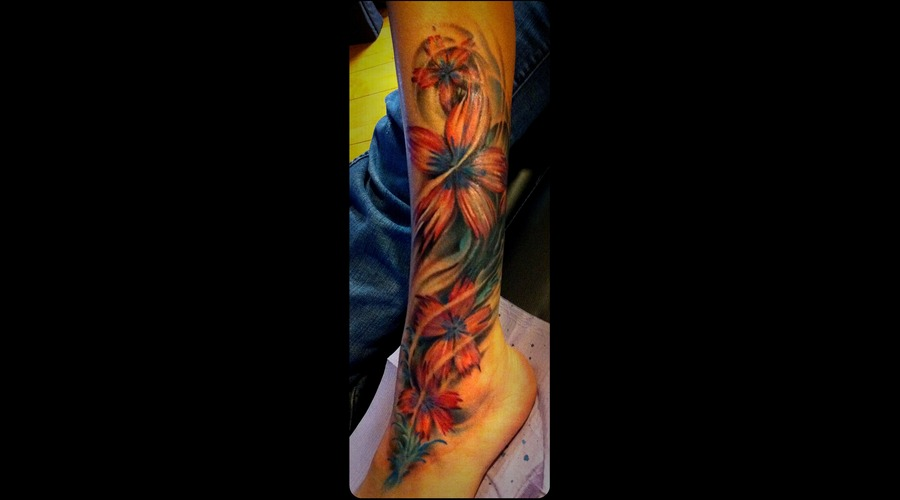 Pretty Flowers Coverup Color Color Lower Leg