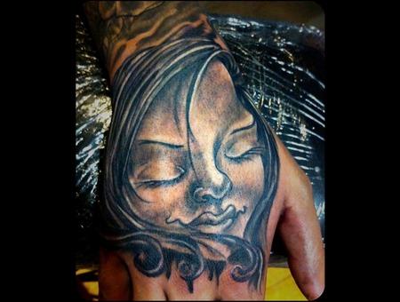 Portrait  Face  Girl Hand Black White Arm