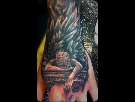 Religious Hand Grey Black White Arm