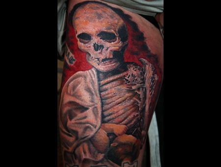 Painting Paul Booth Skeleton Mummy Color