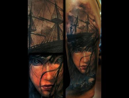 Ship Mermaid Color