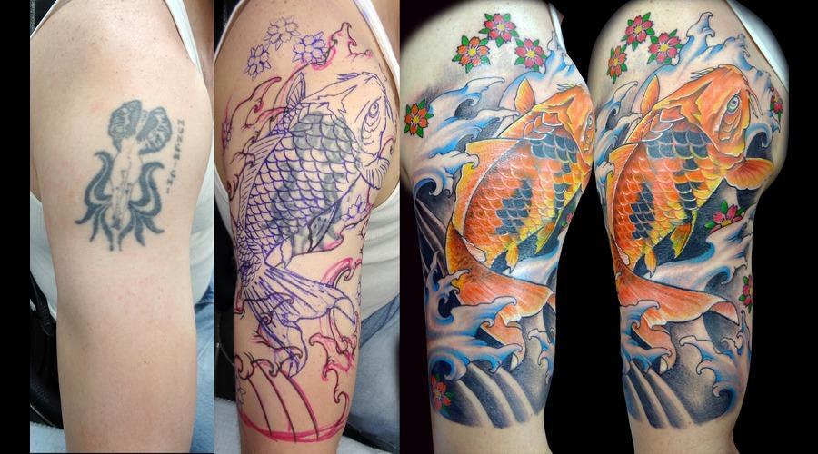 Cover Up Koi Fish  Memo Espino True Artist Color