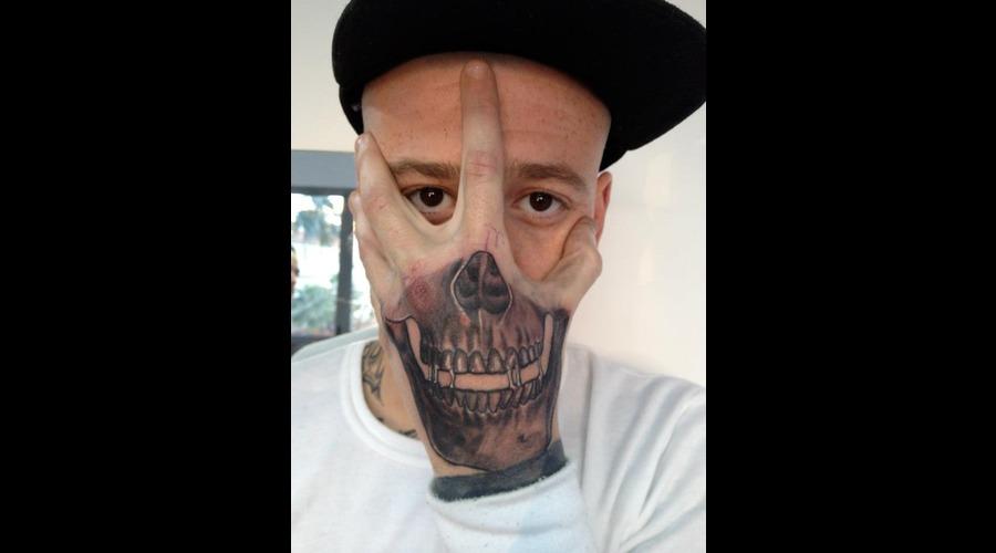 Skull  Mask   Black White