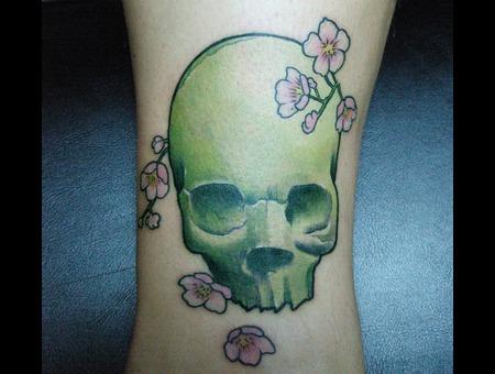Skull  Green Color