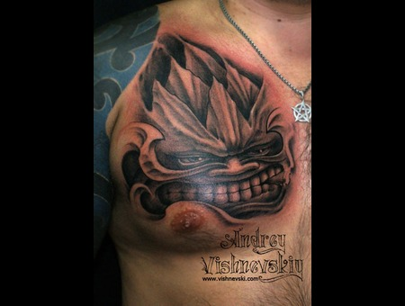 Freehand  No Sketch  Tattoo  No Transfer Black Grey