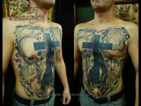 Cover Up  Tattoo Black Grey