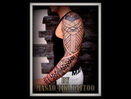 Polynesian Tattoo #Tatau Samoan #Island Style # Manao Tiki #