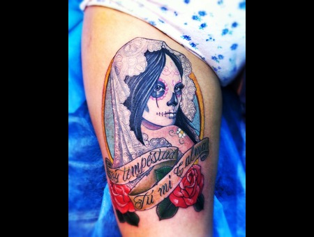 Catrina  Chicano  Latino  Lettering Color