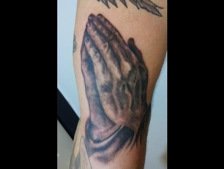 Praying  Hands  Religous Black Grey