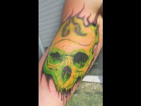 Green  Skull Color