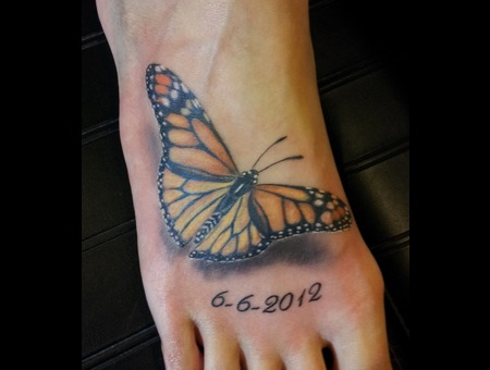 Butterfly  Realism  Foot Color