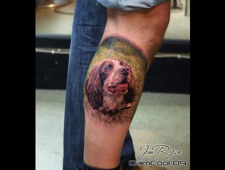 Portrait   Animal   Springer Spaniel  Realism  Lower Leg
