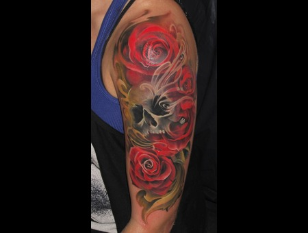 Roses Skull Color