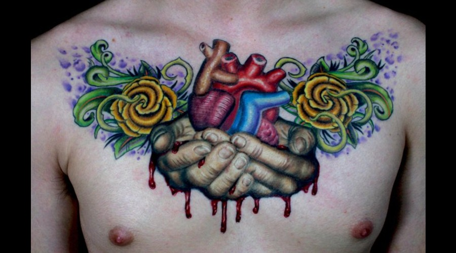 Chest  Anatomical Heart  Heart  Hands Color