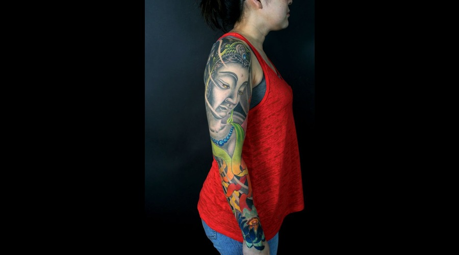 Buddha  Quanyin  Quan Yin  Japanese  Sleeve  Color Color