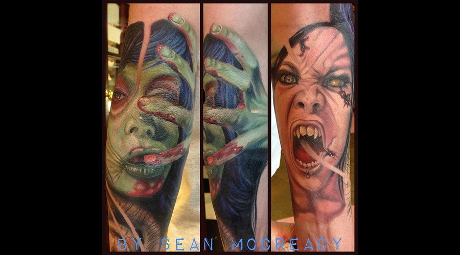 Zombie  Macabre  Horror  Color Portrait  Portrait Color