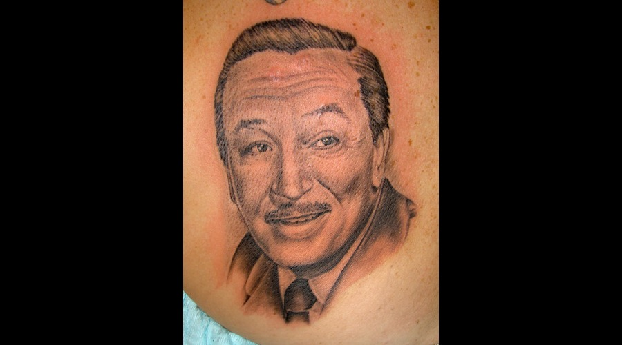 Portrait  Walt Disney Black Grey