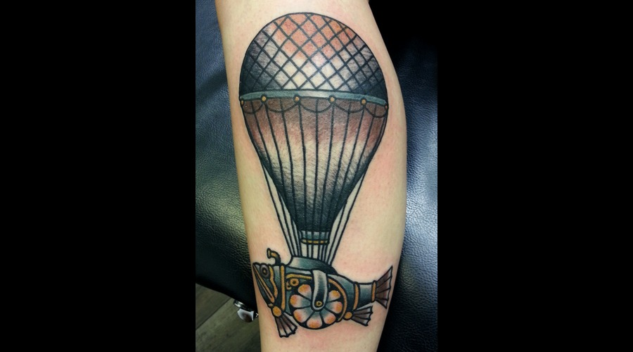 Hot  Air  Balloon  Steam  Punk Color