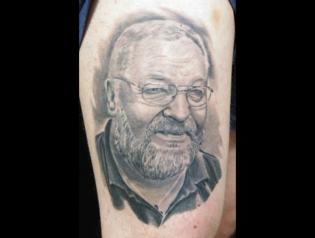 Portrait Of Dad Black Grey Thigh