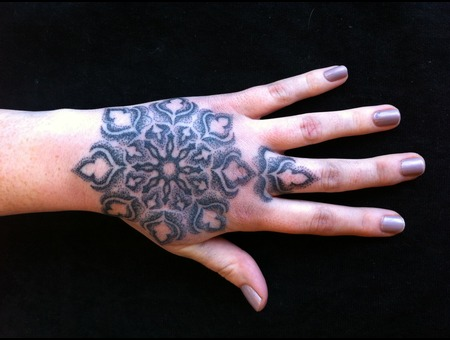 Hand Tattoo  Mandala  Blackwork Black White