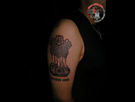 India  Emblem  Lion Black White