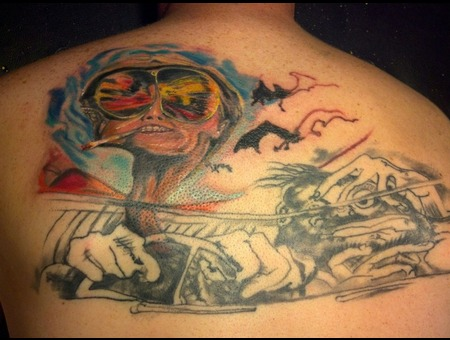 Fear And Loathing  Jonny Depp  Steadman Color