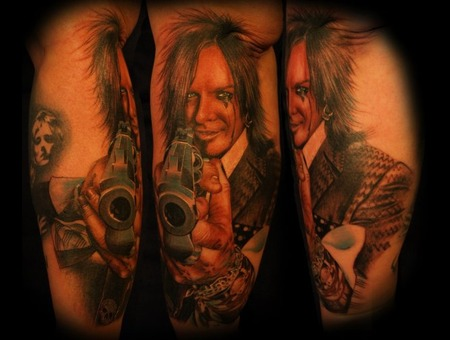 Nikki Sixx  Portrait  Gun   Color