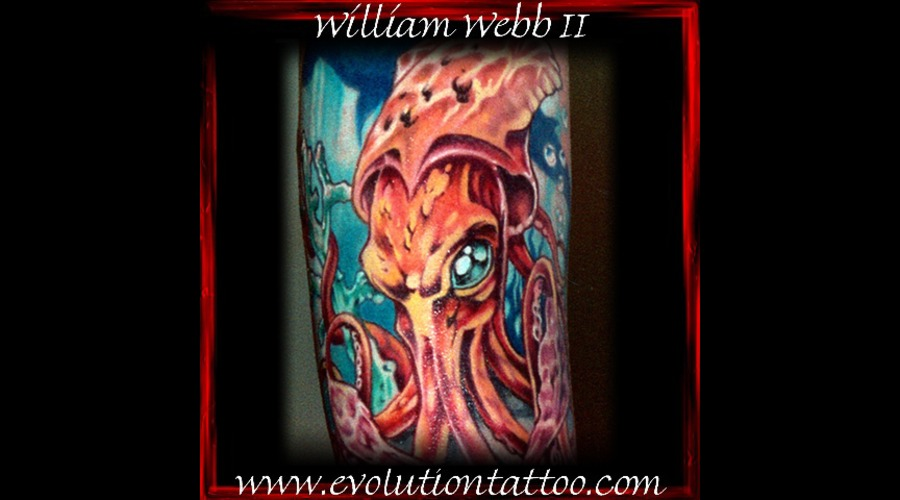 Squid Octopus William Webb Color