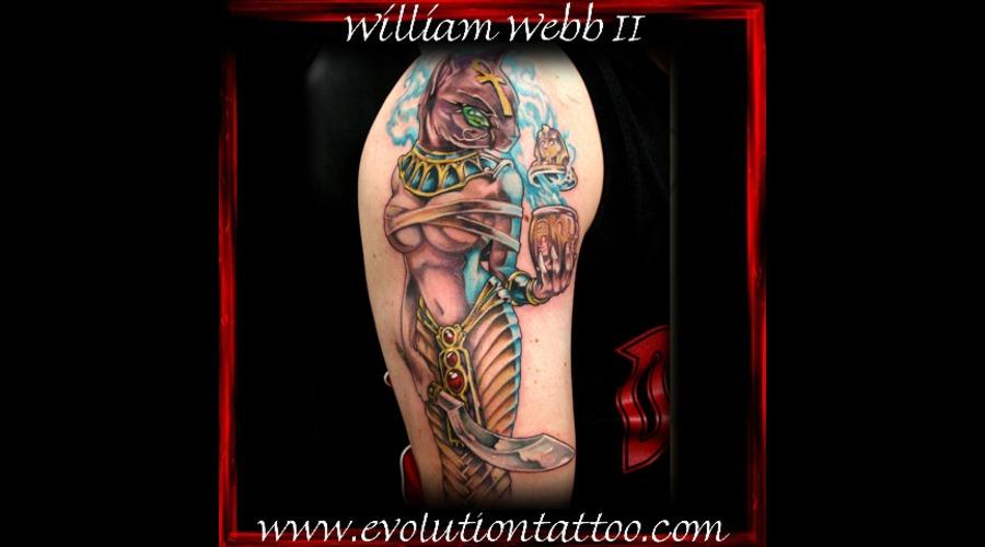 Bast Egyptian Cat William Webb Color