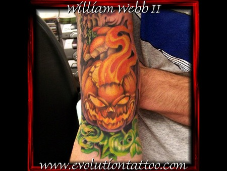 Pumpkin Jack O Lantern Halloween William Webb Color