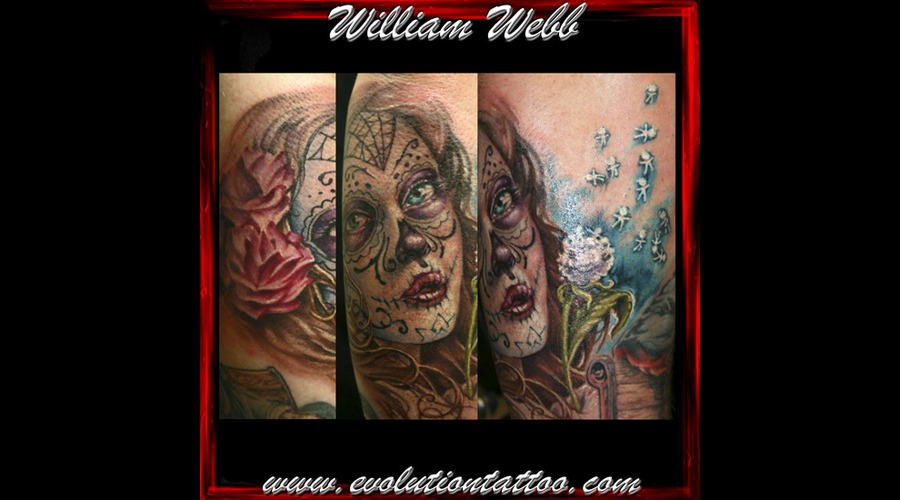 Day Of The Dead  William Webb  Woman Girl Color