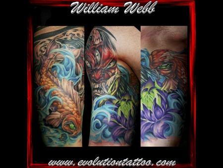 Japanese Oni Koi Lotus William Webb Color