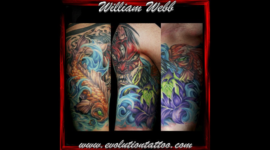 Japanese Oni Koi Lotus William Webb Color
