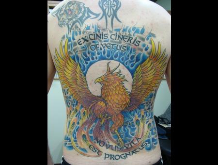 Phoenix  Back Mural  Color Color