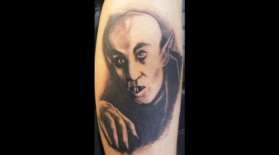 Nosferatu  Vampire  Portrait Black White