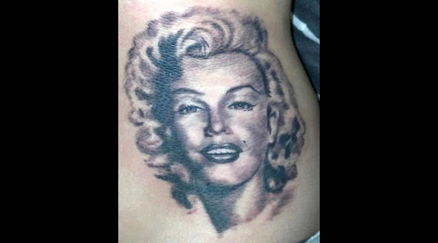 Marilyn Monroe  Portrait Black White
