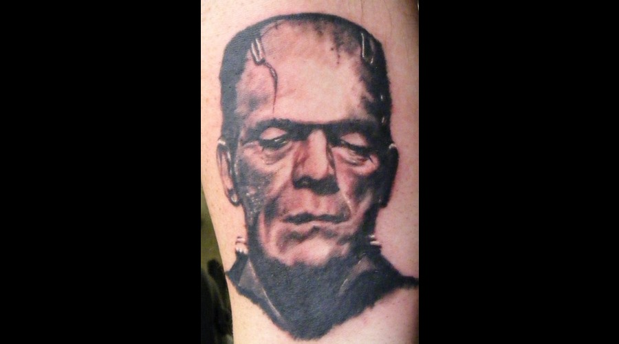Frankenstein  Portrait   Black White