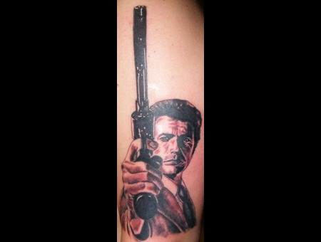 Dirty Harry  Clint Eastwood  Portrait Black White