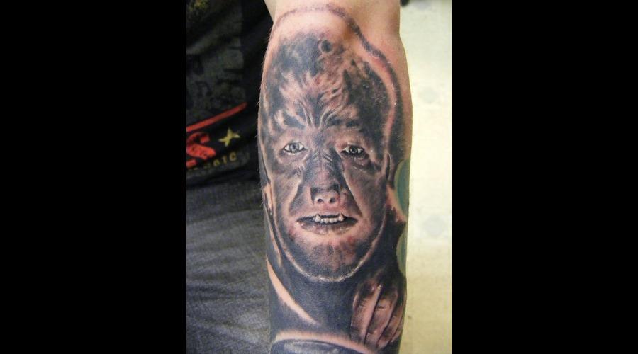 The Wolfman  Lon Cheney Jr  Portrait Black White