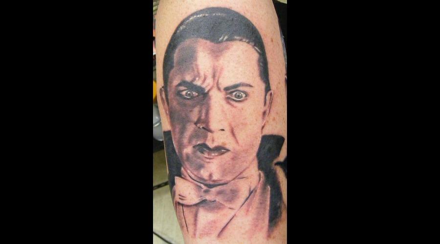 Dracula  Bella Lugosi  Vampire  Portrait Black White