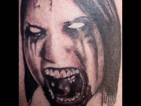 Zombie Girl Black White