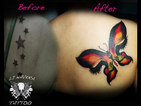 Woman's Eyes  Insect  Butterfly  Freehand Color Back